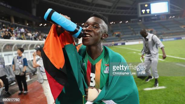 Prosper Chiluya of Zambia looks happy after their victory during the FIFA U20 World Cup Korea Republic 2017 Round of 16 match between Zambia and...