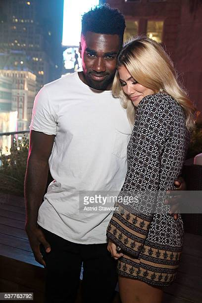 Prosper MBongueMuna and Tori Deal attend MTV's Are You The One Season Four Premiere on June 2 2016 in New York City
