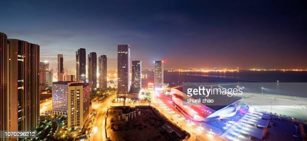 prosperous coastal city - davos stock pictures, royalty-free photos & images