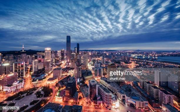 a prosperous seaport city - zhongshan stock-fotos und bilder