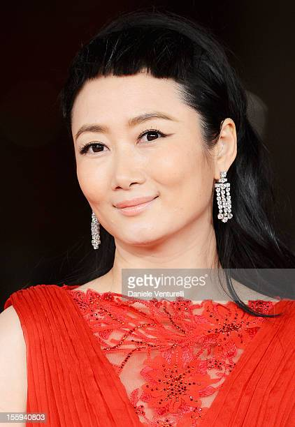 """Prospettive Italia Jury member Zhao Tao attends the Festival Opening and """"Waiting For The Sea"""" Premiere during the 7th Rome Film Festival at the..."""