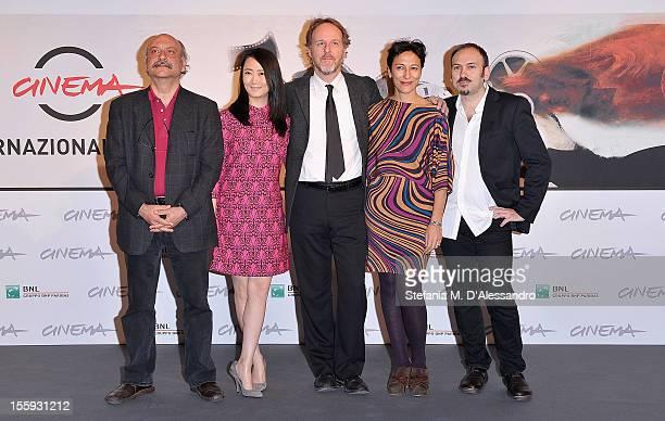 Prospettive Italia Jury members Babak Karimi Zhao Tao Jury President Francesco Bruni and jury members Anna Negri and Stefano Savona attend the...