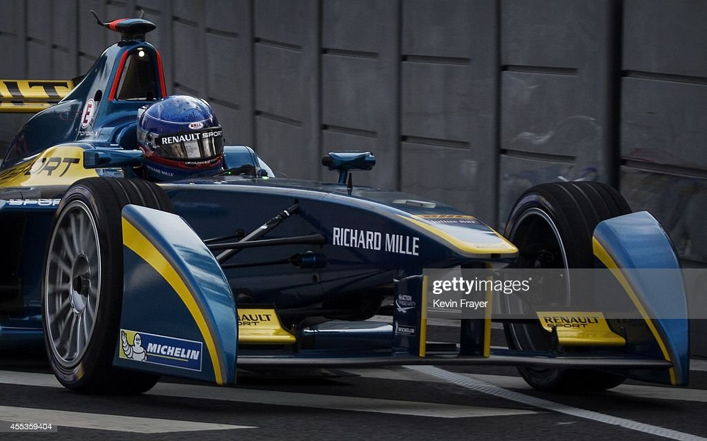 Prost Racing Driver Nicholas Prost drives during the inaugral FIA Formula E Beijing ePrix Championship on September 13, 2014 in Beijing, China. The electric car racing series is set to be hosted in nine other cities worldwide.
