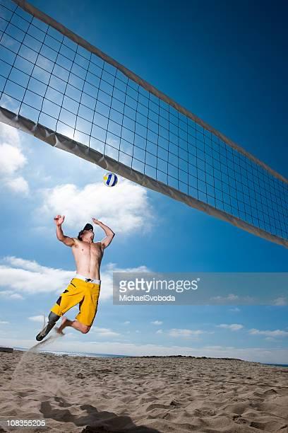 prothetische volleyball - strand volleyball der männer stock-fotos und bilder