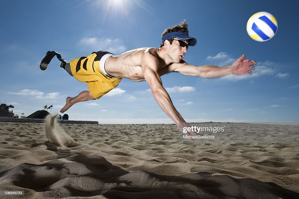 Prosthetic Volleyball : Stock Photo