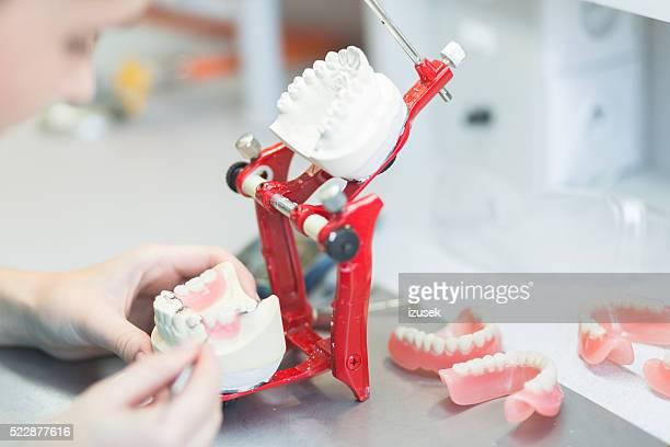 Prosthodontic lab, focus on dentures