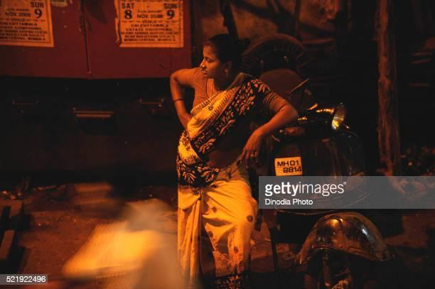 Prostitute in Kamathipura, Bombay Mumbai, Maharashtra, India