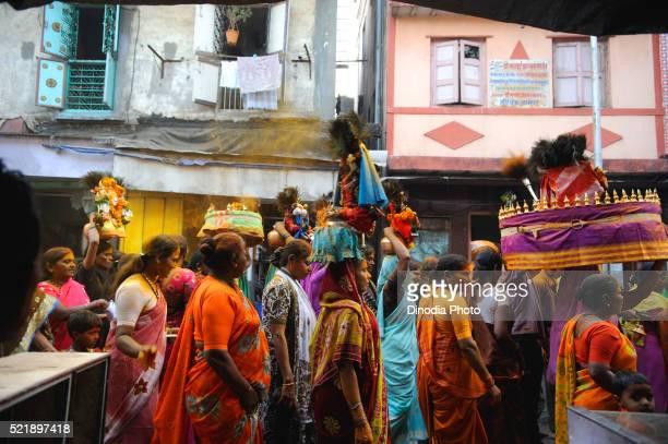 Prostitute in yellama festival, Kamathipura, Bombay Mumbai, Maharashtra, India