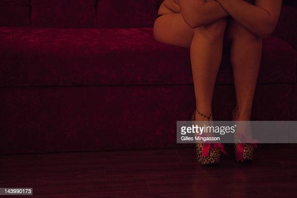 A prostitute waits for a client on November 18 2010 at the Love Ranch a brothel located on the outskirts of Carson City the state capital of Nevada...