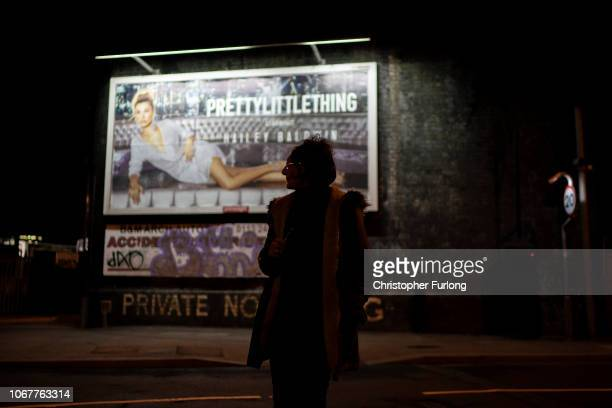 A prostitute waits for a customer on the streets of Holbeck the only 'managed' zone for prostitution in the UK on November 14 2018 in Leeds England...