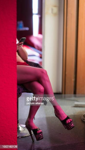 A prostitute waits for customers in her room at a brothel in Frankfurt am Main Germany 12 July 2017 Photo Andreas Arnold/dpa