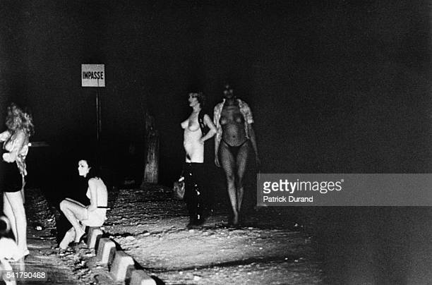 Prostitutes bare all in an attempt to attract a client With prostitution rising at an alarming rate in the Bois de Boulogne a forest come brothel on...