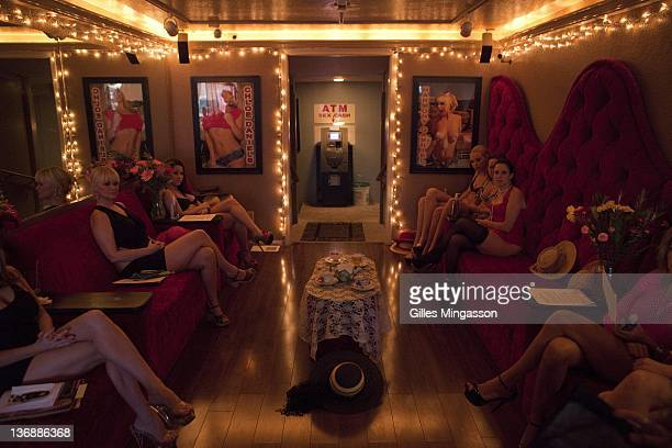 Prostitutes gather for the weekly tea party on November 18 2010 at the Love Ranch a brothel located on the outskirts of Carson City the state capital...