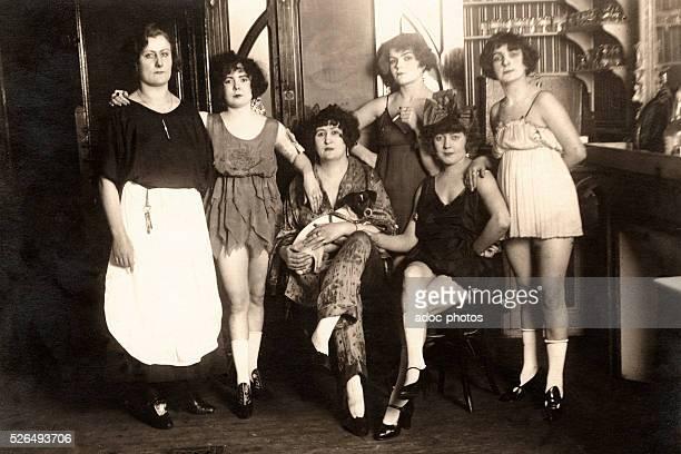 Prostitutes in a brothel . Ca. 1910.