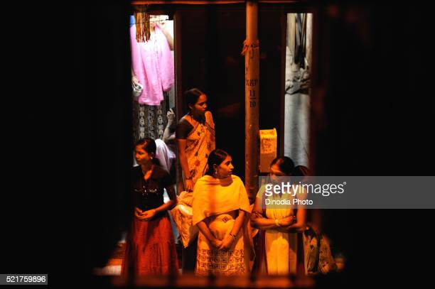 Prostitutes in Kamathipura, Bombay Mumbai, Maharashtra, India