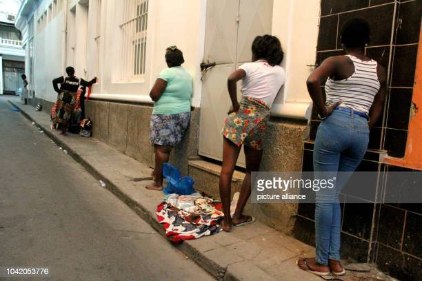 Prostitutes in the red light district of Maputo Mozambique 17 May 2016 The International Organisation for Migration assumes 1000 women and children...