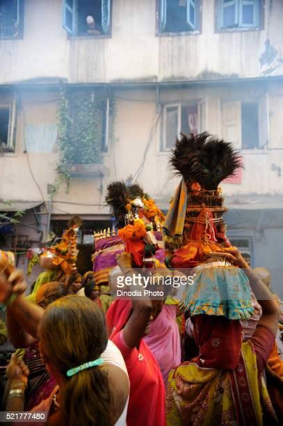 Prostitutes in yellama festival, Kamathipura, Bombay Mumbai, Maharashtra, India