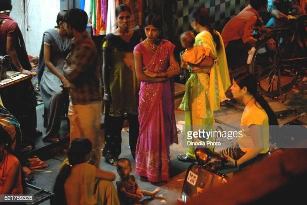 Prostitutes, Kamathipura, Bombay Mumbai, Maharashtra, India