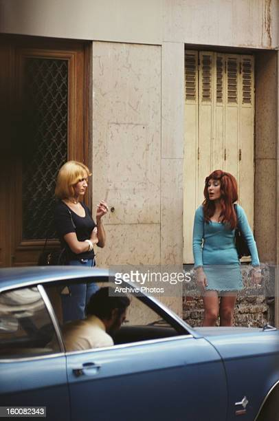 Prostitutes on the Rue de Budapest behind the Gare SaintLazare in Paris France July 1975