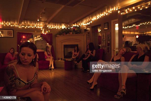 Prostitutes wait for a client on November 18 2010 at the Love Ranch a brothel located on the outskirts of Carson City the state capital of Nevada...