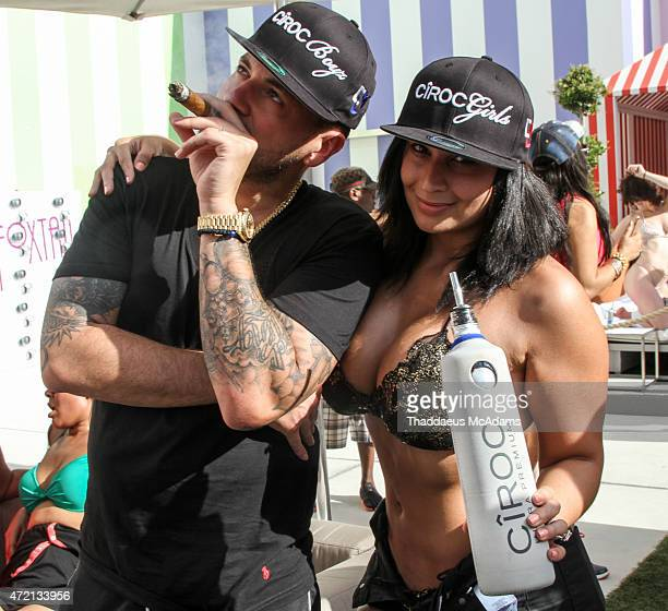 Prostyle and Wife at The Fox Tails day club at The SLS on May 3 2015 in Las Vegas Nevada