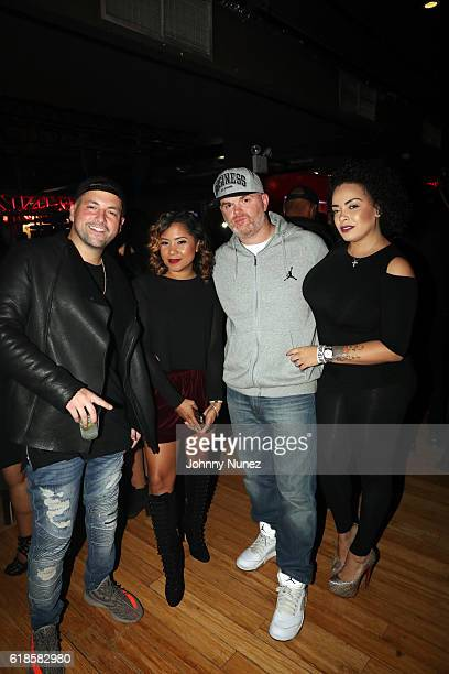 DJ Prostyle Angela Yee DJ Geespin and Lore'l attend the Powerhouse PreParty at Stage 48 on October 26 2016 in New York City