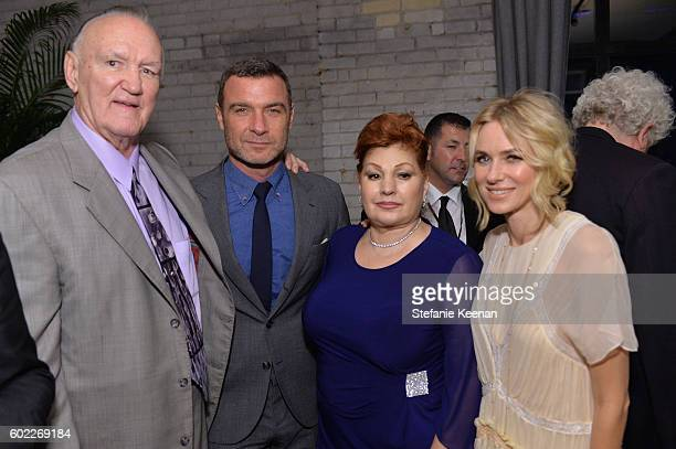 Protagonist Chuck Wepner, actor Liev Schreiber, Linda Wepner and actress Naomi Watts at The Bleeder TIFF party hosted by GREY GOOSE Vodka at Storys...