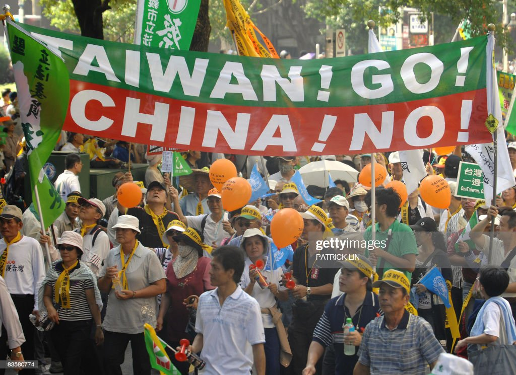 Pro-Taiwan independence activists march : News Photo