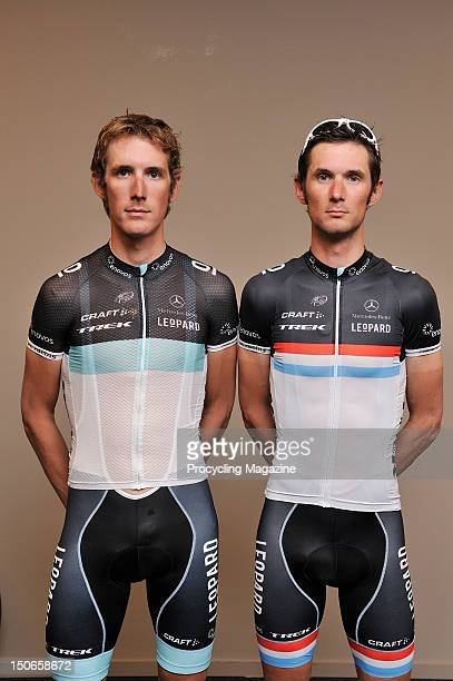 ProTeam Leopard Trek cyclists Andy and Frank Schleck in Belgium, April 28, 2011.