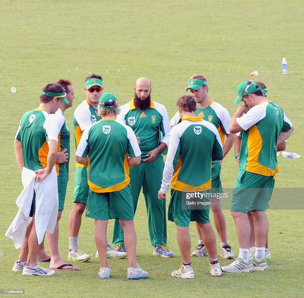 Proteas Meeting During The South African National Cricket