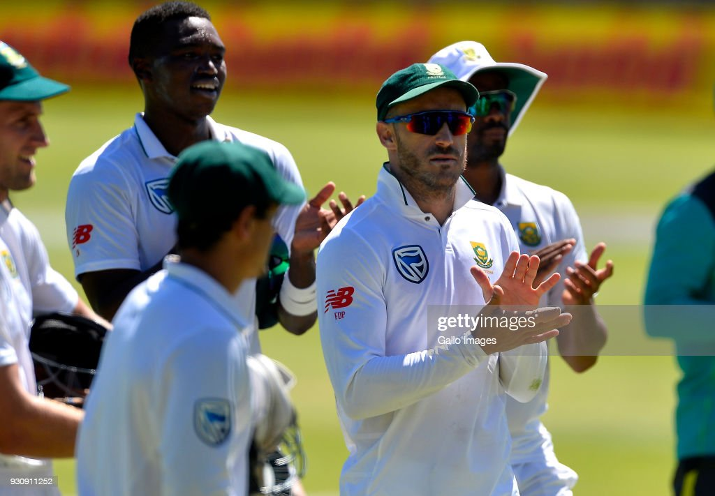 Proteas walks off after wining the 2nd Sunfoil Test match between South Africa and Australia at St Georges Park on March 12, 2018 in Port Elizabeth, South Africa.