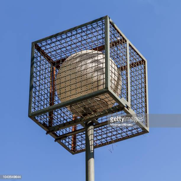 protected lamppost - isometric projection stock photos and pictures