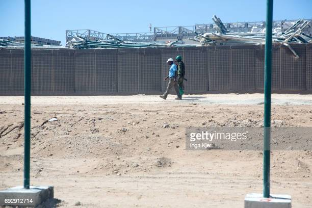 Protected outdoor area of Mogadishu airport on May 01 2017 in Mogadischu Somalia