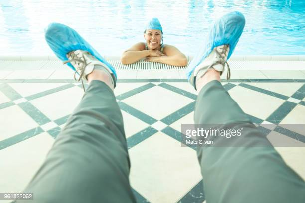 protection with shoe protector - shoe covers stock pictures, royalty-free photos & images