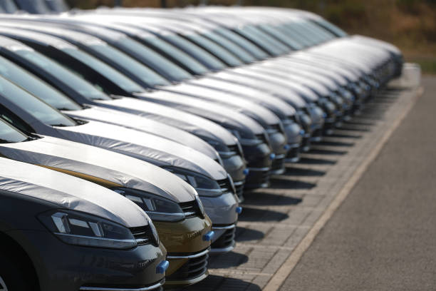 volkswagen ag automobiles stockpiled ahead of emissions testingの