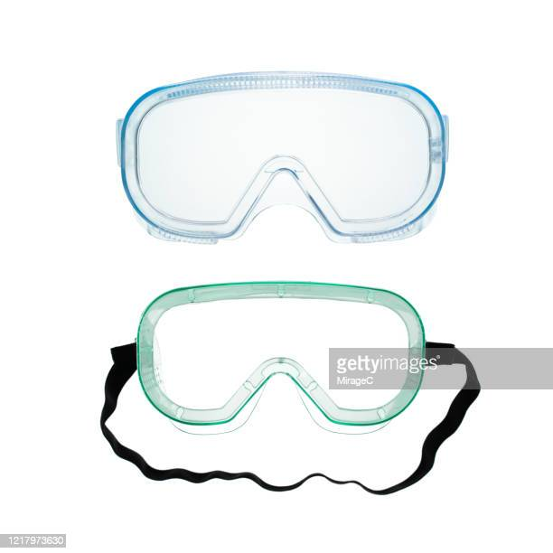 protective eyewear on white - protective eyewear stock pictures, royalty-free photos & images