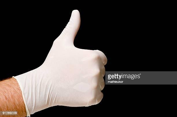 gants en latex de protection - latex photos et images de collection