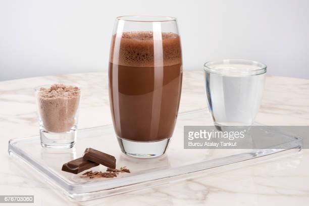 protein drink with chocolate