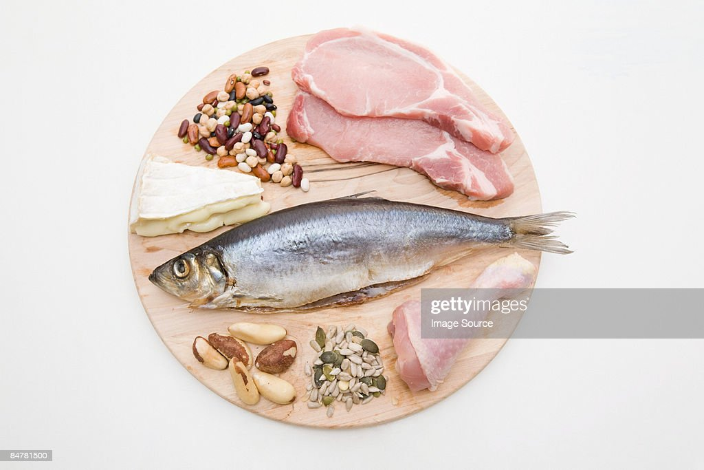Protein food group : Stock Photo
