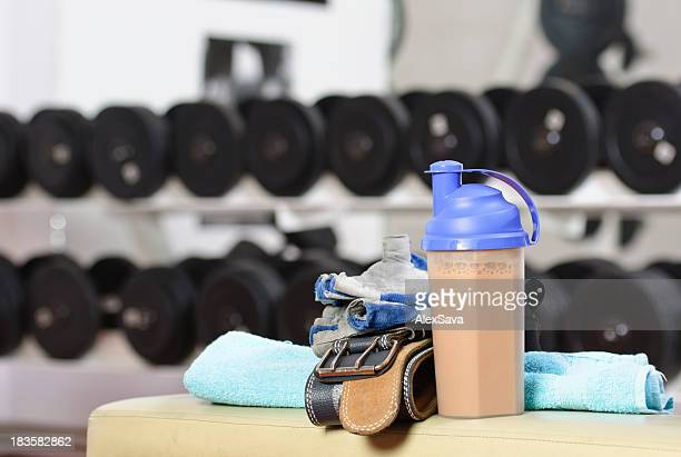 protein shake - milkshake stock photos and pictures