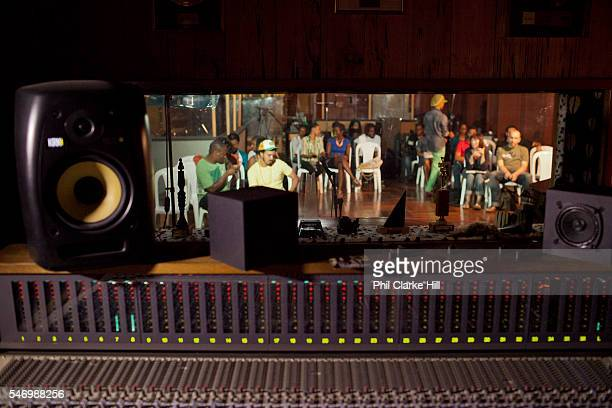 Proteje is one of the most noted artists from Jamaica at the moment recording a new reggae sound seen here at his album launch at Tuff Gong Studios...