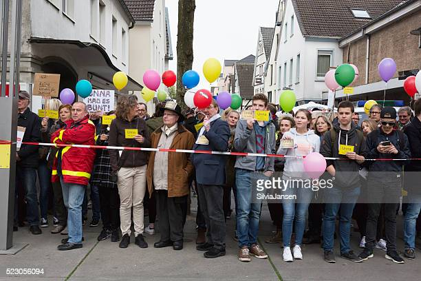"""Protest gegen die """" Alternative fuer Deutschland"""""""
