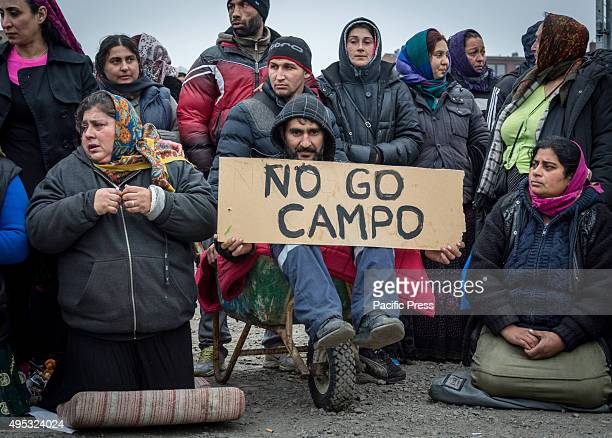 A protest against decision on eviction of EU migrants in Malmö The city of Malmö has decided to evict a group of about 200 EU migrants from a private...