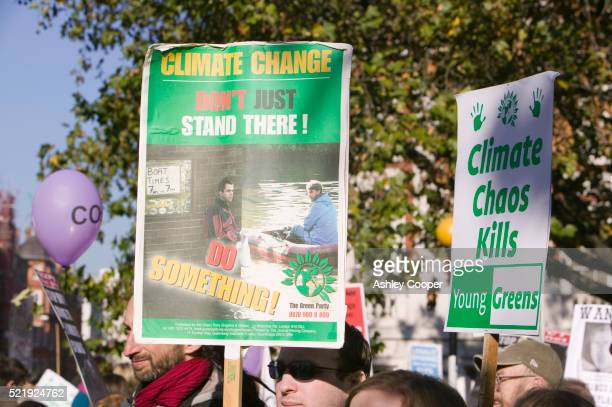 Protest Against Global Warming in London