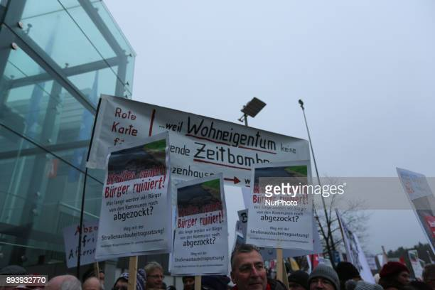 Protest against nuclear energy Several people protested in front of the CSU Party Congress in Nuremberg Germany 15 December 2017