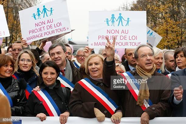Protest against samesex mariages in Paris