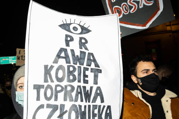 POL: Demonstration Against Abortion Law In Poland