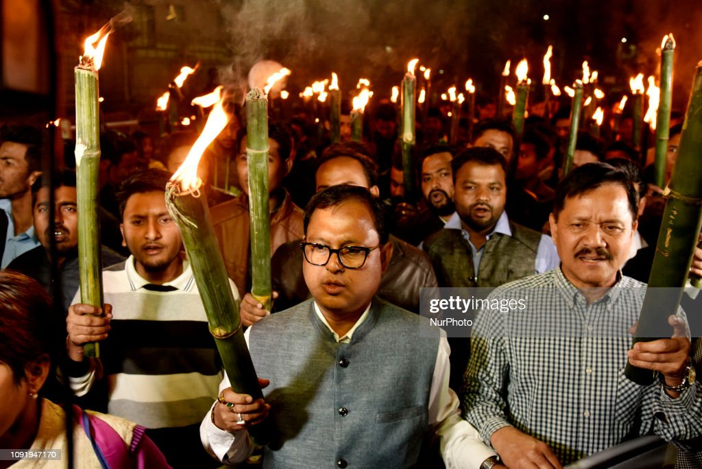 Protest Against The Citizenship Amendment Bill In Guwahati : ニュース写真