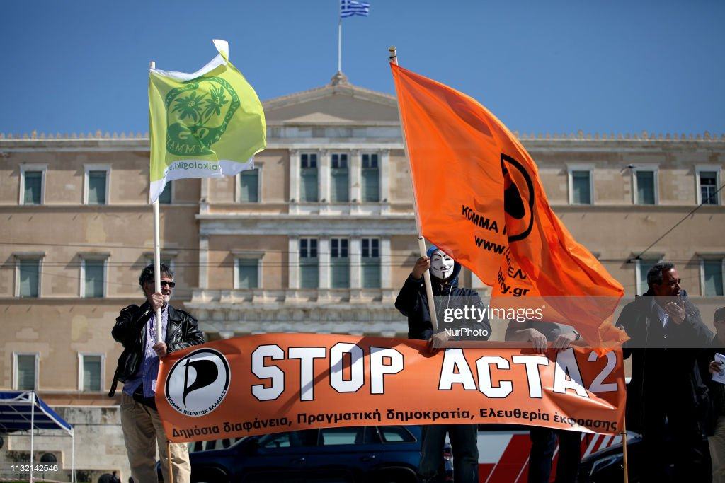 GRC: Demo Against Article 13 In Athens