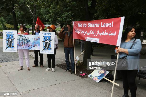 Protest against the Islamic Republic of Iran calling for the release of political prisoners and an end to Sharia Law in Toronto Ontario Canada on...